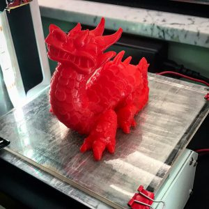 Got some new filament colors this weekend. 8 hours and 45 minutes later... Dragon! #3dprinting